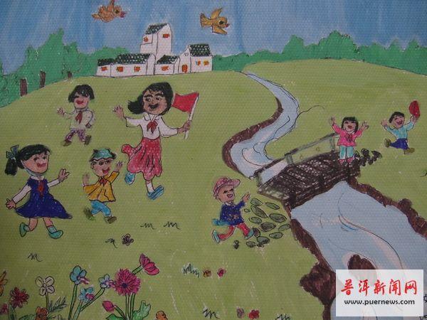 六一儿童节展览图画分享展示